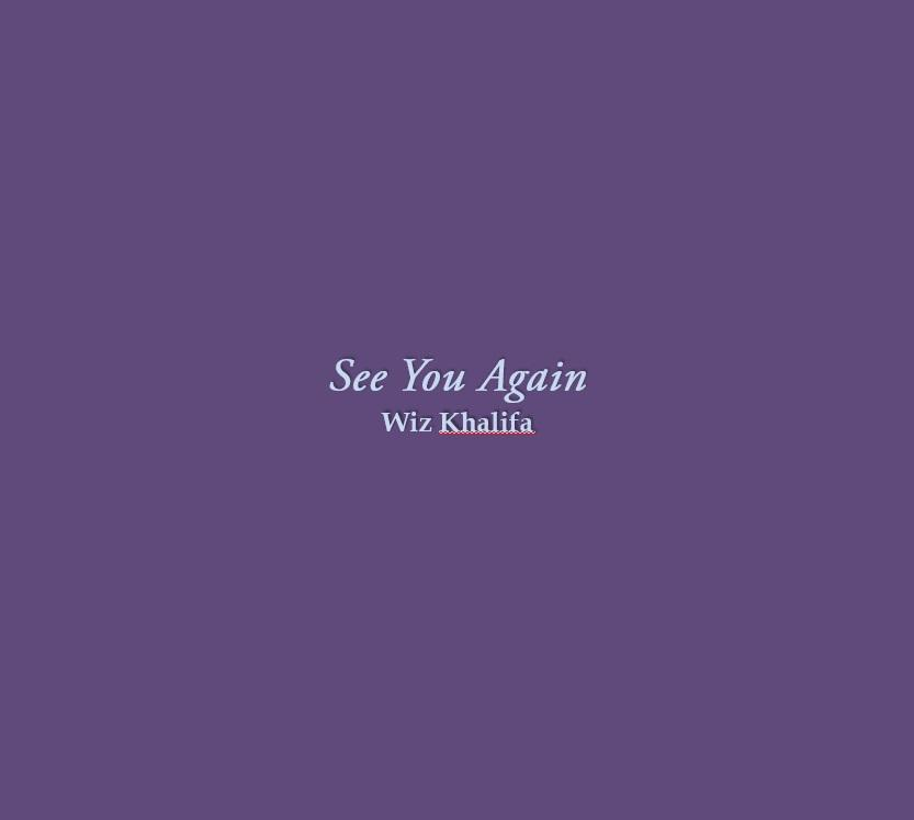 See You Again Lyrics - Android Apps on Google Play