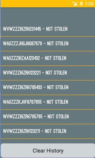 Stolen Car Checker Screenshot