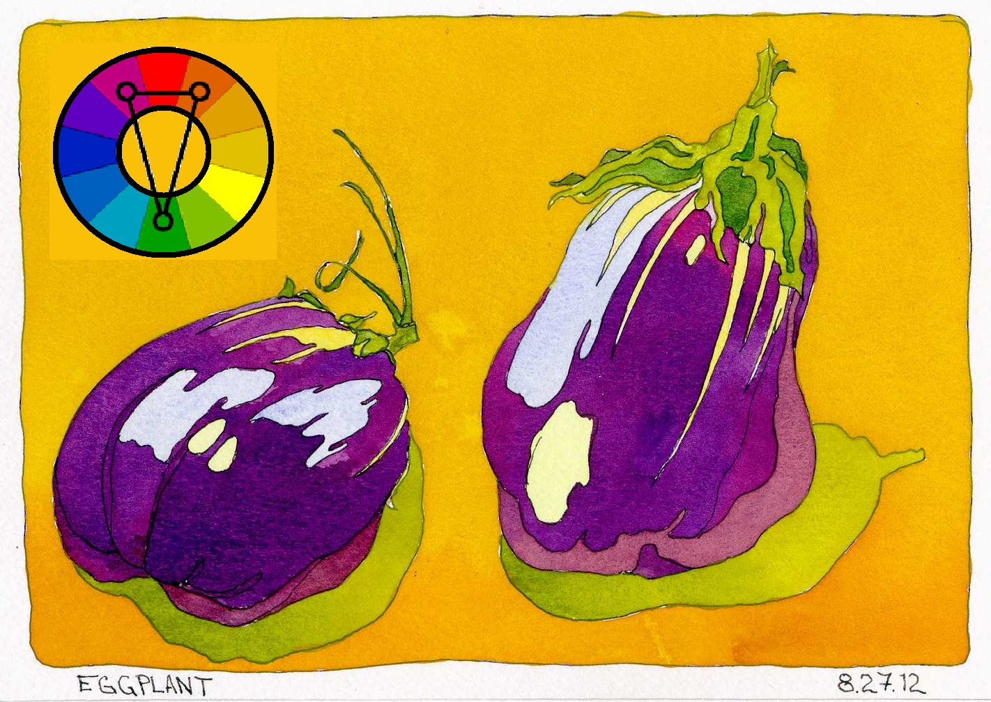 two-eggplants-ink-watercolor-color-scheme-game-chris-carter-artist-analogous-split-complements-082712-web.jpg
