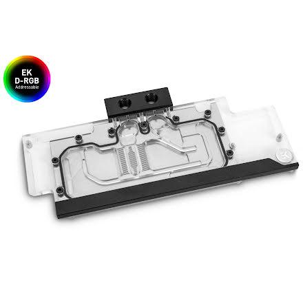 EK vannblokk for skjermkort, EK-Classic RTX 2080 +Ti D-RGB - Nickel + Plexi