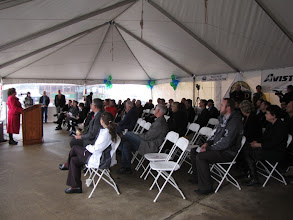 Photo: RVTD General Manager Julie Brown gave a sparkling cider toast to the new CNG station.
