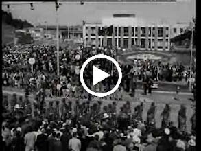 Video: Captain Cook Commemoration & Parade VIDEO - 1969-10-09 This B&W National Film Unit archive film was made Oct 1969, and looks at the bicentennial celebrations of Captain Cook's arrival in Gisborne. The film shows the international Naval Fleet in Poverty Bay, parades, celebrations at the Cook landing Memorial (before the Port reclamation separated it from the historic landing beaches), the Maori welcome at Anaura Bay, a totem pole given to the people of New Zealand by Canada, and the unveiling of the Cook statue on Kaiti Hill. Video supplied by the NZTV Archives.