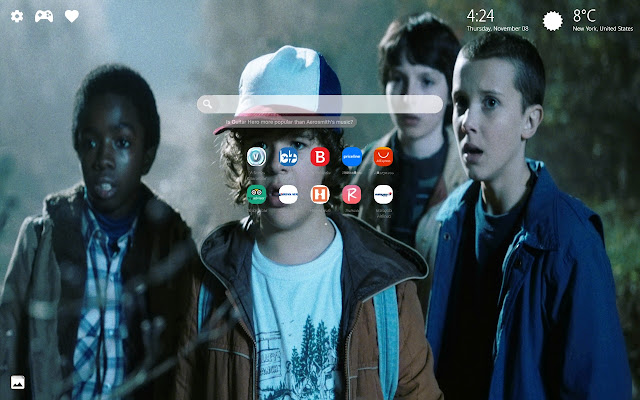 Stranger Things Show Wallpapers New Tab