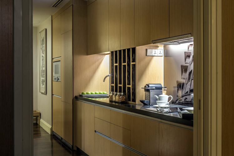Fully equipped kitchen at Ascott Raffles Place Singapore