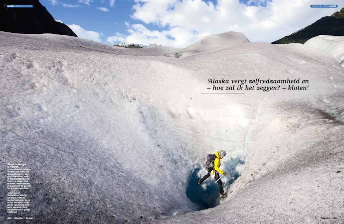 Above the Mendenhall Glacier for Columbus Magazine