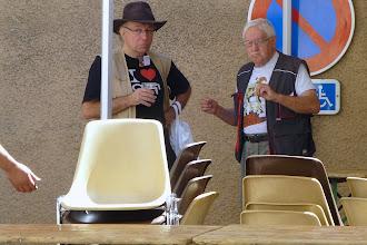 Photo: Bernard Dardinier et Georges Pierru en conciliabule