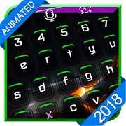 Green Neon Animated Keyboard