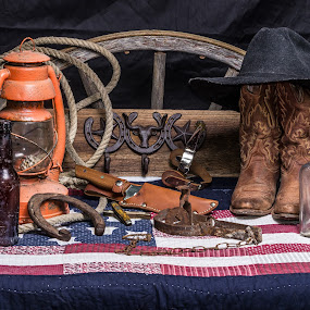 Taste Of Texas II by Robert Marquis - Artistic Objects Still Life ( western art, still life, texas art )