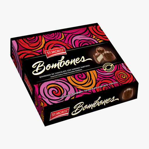 Chocolate St Moritz Bombonera Rosas 85Gr