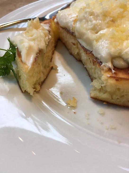 アクイーユのトリプルチーズパンケーキ断面