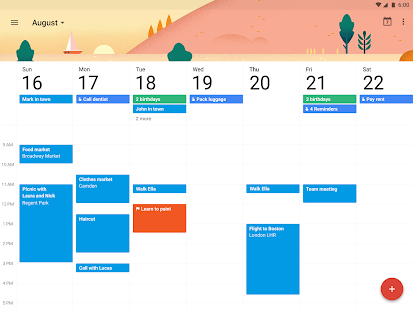 Google Calendar- screenshot thumbnail