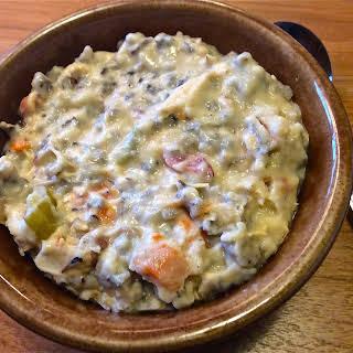 Crockpot Creamy Chicken & Wildrice Soup – Gluten Free.