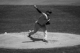 Photo: Felix Hernandez Congratulations to Felix Hernandez for pitching a perfect game today. This is an image I shot last month at Kauffman Stadium when the Mariners were playing the Royals. As is my habit, whenever an athlete I have photographed is in the news I hijack my #365project for the day as a shout out. Hope you don't mind +Simon Kitcher+Patricia dos Santos Patonand +Vesna Krnjic.  #baseball  #mariners  #felixhernandez