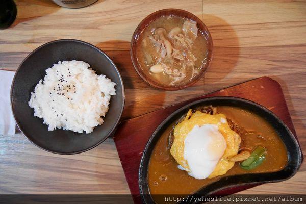 食事處湘南亭-熱炸漢堡溫鐵鍋,起司沈沁咖哩香
