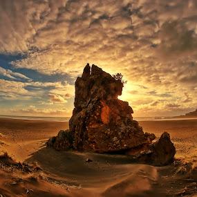 Karekare Sunset by Jomy Jose - Landscapes Sunsets & Sunrises ( hannahsdreamz, auckland, karekare, jomy jose, jomy jose photographer, new zealand )
