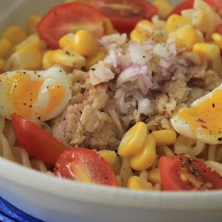 Fusilli Pasta with Tuna,  Sweetcorn and Quail'S Egg Recipe