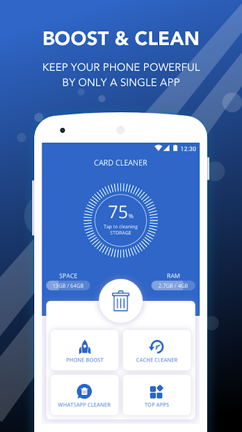 Card Cleaner - Memory cleaner & Trash removal Android App Screenshot