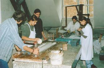 Photo: warsztaty sztukatorstwo, 2003 r. N.Koperkiewicz, R.Pietrzak, W.Dąbrówka,