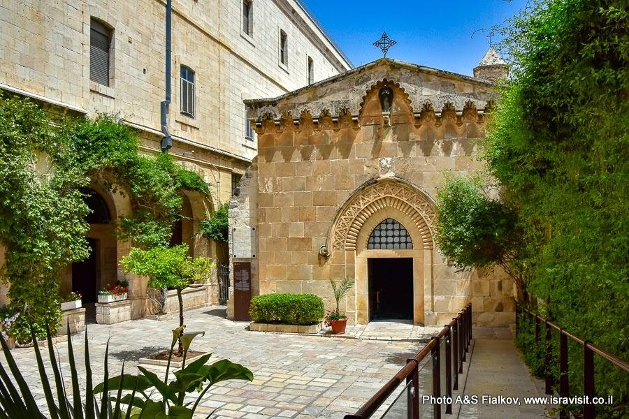 Иерусалим. Старый город.  Улица Виа Долороза. Вторая Станция Возложения тернового венца. Экскурсия в Иерусалиме.