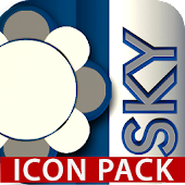 SKY icon pack blue white