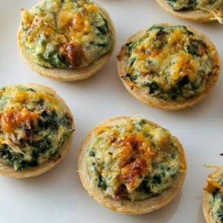 Crab and Spinach Mushroom Tarts