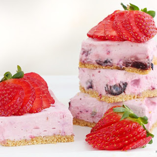 Berry Cheesecake Bars (skinny And No Bake).