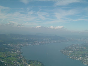 Photo: The Lake Zurich, with the so famous shores; the city of Zurich ist just at the top right end http://www.swiss-flight.net