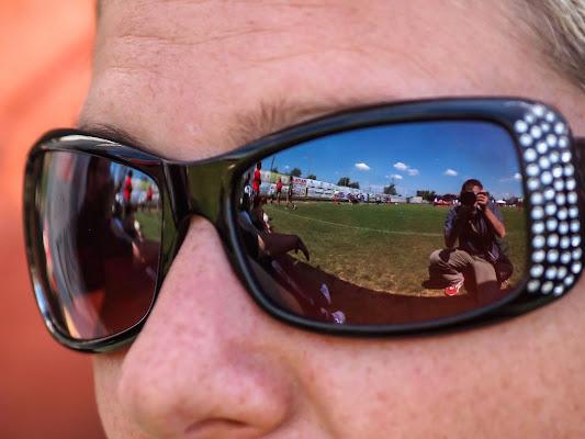 Il fotografo...riflesso di trifoglio