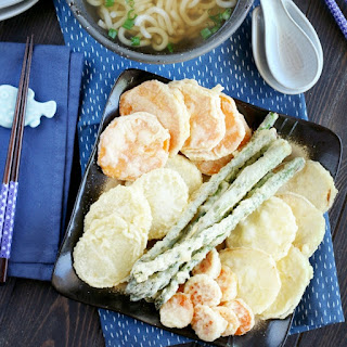 Vegetable Tempura Udon Soup.