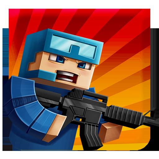 Пиксель Битвы: ружья и блоки 動作 LOGO-玩APPs