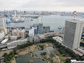 Photo: Tokyo Bay (and the same garden) from above