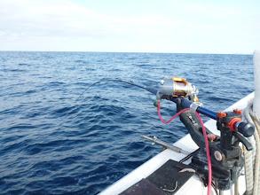 Photo: 今日は船頭さんも、竿出してガンバリまっせー!