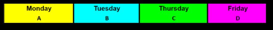 A, B, C, D Schedule