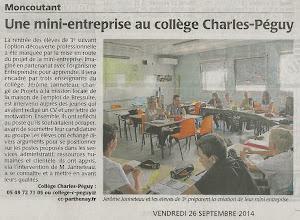 Photo: 2014-09-26 CO Une mini-entreprise au collège Charles-Péguy