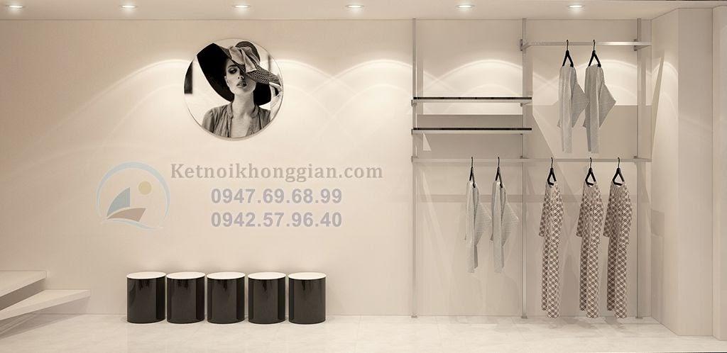 thiết kế cửa hàng thời trang nhỏ long lanh, đầy huyền diệu