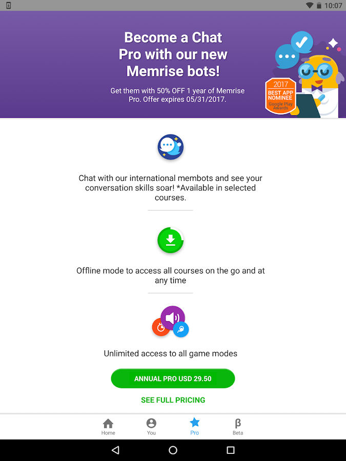 Memrise: Learn a new language- screenshot