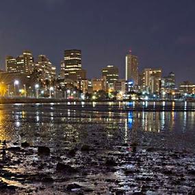 Harbour Skyline by Tracey Zettler - City,  Street & Park  Skylines ( lights, harbour, cityscape, nightscape, city )