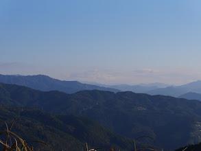 雲がなければ中央に富士山