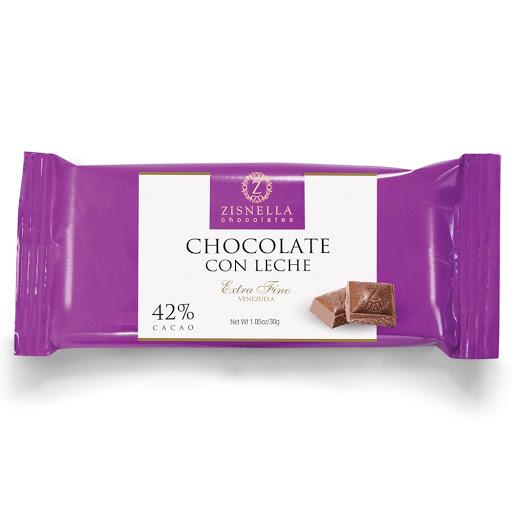 chocolate zisnella con leche 42% cacao 30gr