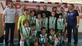 Los jugadores del Natación Almería con la Copa y las medallas.