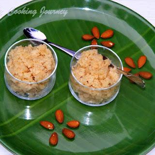 Badam Halwa / Almond Halwa Recipe