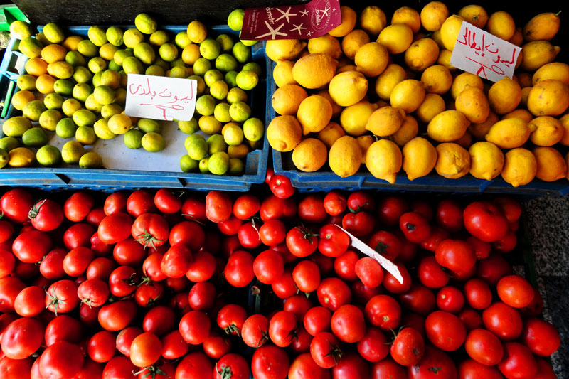 Photo: Day 128 +G+ 365 Project : 7 May 2012 Vegetable shopping, Cairo, Egypt   #project365 #creative366project #tomatoes #lemon
