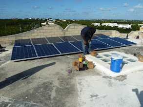 Photo: 3KW grid-tied residential system under construciton in Anguilla