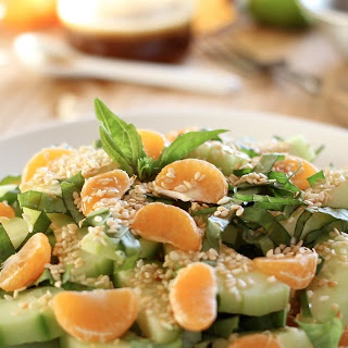 Lime, Basil, and Mandarin Salad