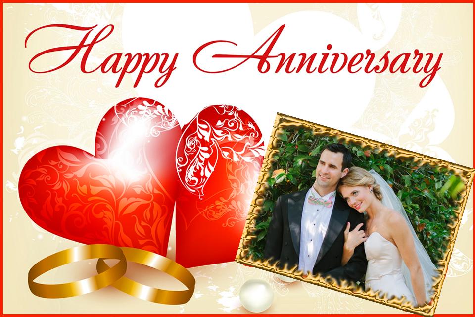 Happy anniversary photo frames online editing