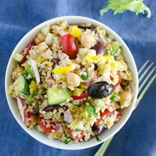 Mediterranean Cracked Wheat Salad.