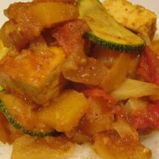 Just like Butta Tofu.......with butternut squash and tomato curry sauce