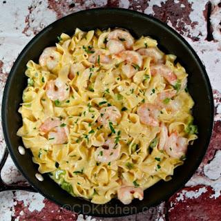 Creamy Shrimp Noodle Skillet.