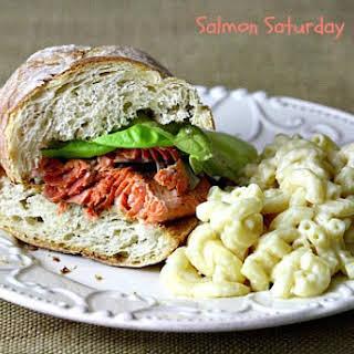 Blackened Salmon Sandwich.