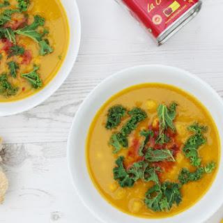 Butternut Squash, Parsnip & Kale Soup [vegan]